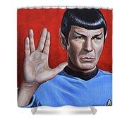 Vulcan Farewell Shower Curtain by Kim Lockman