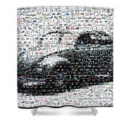 Vw Bug Volkswagen Mosaic Shower Curtain by Paul Van Scott