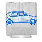 Vw Golf Shower Curtain by Naxart Studio
