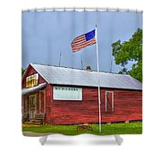 W T Bickets Store In Liberty Shower Curtain by Reid Callaway