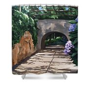 Walk With Me Shower Curtain by Suzanne Schaefer