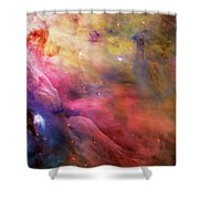 Warmth - Orion Nebula Shower Curtain by The  Vault - Jennifer Rondinelli Reilly