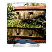 Warner Covered Bridge Shower Curtain by Greg Fortier