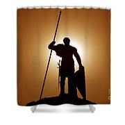 Warrior Shower Curtain by David Lee Thompson