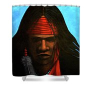 Warrior Shower Curtain by Lance Headlee