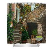 Wash Day Shower Curtain by Charlotte Blanchard