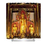 Wat Chedi Luang Wora Wihan Shower Curtain by Greg Vaughn - Printscapes