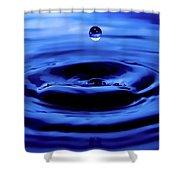 Water Drop Shower Curtain by Eric Ferrar