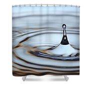 Water Drop Splash Shower Curtain by Frank Tschakert