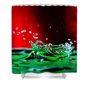 Water drop splashing Shower Curtain by Paul Ge
