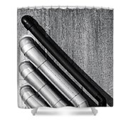 Water Pipes Shower Curtain by Wim Lanclus