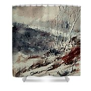 Watercolor 446 Shower Curtain by Pol Ledent