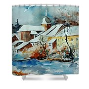 Watercolor Chassepierre Shower Curtain by Pol Ledent