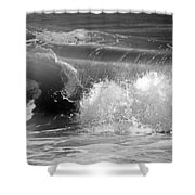 Wave Shower Curtain by Charles Harden