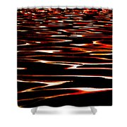 Waves on Fire Abstract Shower Curtain by David Patterson