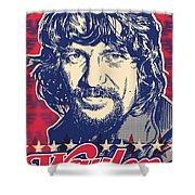 Waylon Jennings Pop Art Shower Curtain by Jim Zahniser