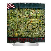 We don't see the whole picture Shower Curtain by James W Johnson