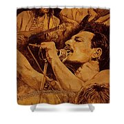 We Will Rock You Shower Curtain by Igor Postash