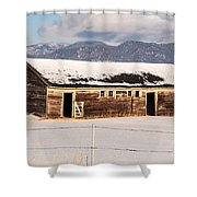 Weathered Barn Shower Curtain by Sue Smith