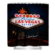 Welcome to Las Vegas Shower Curtain by Steve Gadomski