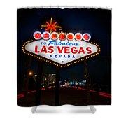 Welcome To Las Vegas Shower Curtain by Steve Gadomski