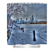 West From Navy Pier Shower Curtain by David Bearden