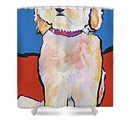 What No Diamonds Shower Curtain by Pat Saunders-White