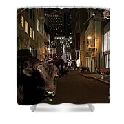 When The Lights Go Down In The City Shower Curtain by Wingsdomain Art and Photography