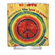 When The Power Of Love Shower Curtain by Debbie DeWitt