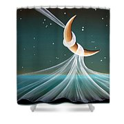 When The Wind Blows Shower Curtain by Cindy Thornton