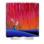Where Flowers Bloom Shower Curtain by Cindy Thornton