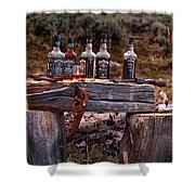Whiskey And Guns Shower Curtain by Leland D Howard