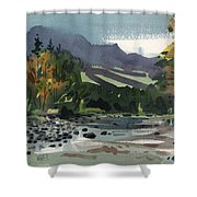 White Water On The White River Shower Curtain by Donald Maier
