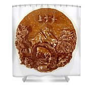Wild And Free Detail Shower Curtain by Dawn Senior-Trask