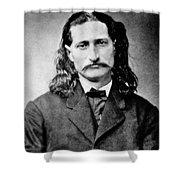 Wild Bill Hickok - American Gunfighter Legend Shower Curtain by Daniel Hagerman