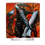 Wild Birds Shower Curtain by Carol Cavalaris