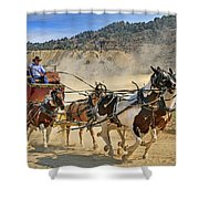 Wild West Ride Shower Curtain by Donna Kennedy