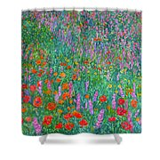 Wildflower Current Shower Curtain by Kendall Kessler