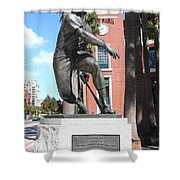 Willie Mays at San Francisco Giants ATT Park . 7D7636 Shower Curtain by Wingsdomain Art and Photography