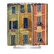 Windows Of Portofino Shower Curtain by Joana Kruse