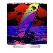 Windsurfer Shower Curtain by Brian Roscorla