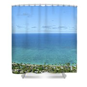 Windward Oahu Panorama II Shower Curtain by David Cornwell/First Light Pictures, Inc - Printscapes