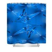 Wine Glass Shower Curtain by Tim Allen