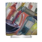 Wine Pour Shower Curtain by Donna Tuten