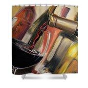 Wine Pour II Shower Curtain by Donna Tuten