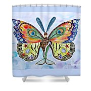 Winged Metamorphosis Shower Curtain by Lucy Arnold
