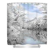 Winter at the Reservoir Shower Curtain by Lori Deiter