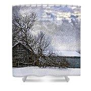 Winter Farm Shower Curtain by Steve Harrington