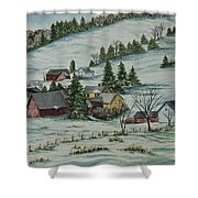 Winter In East Chatham Vermont Shower Curtain by Charlotte Blanchard