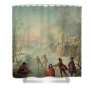 Winter Shower Curtain by Jacques de Lajoue
